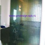 Душевая перегородка для ванной из стекла 8мм.