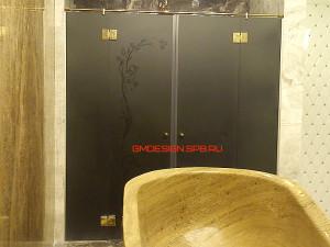 двери для душа стеклянные распашные