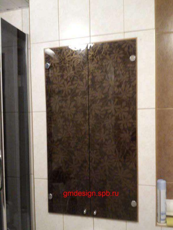 Дверцы ниши, стеклянные дверцы в нишу от gmdesign.