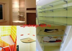 стеклянные полки купить в СПб
