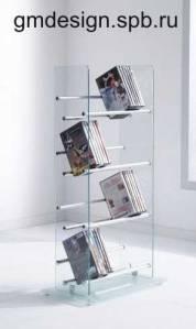 стеклянная стойка для дисков