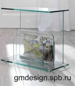 стеклянный газетный столик