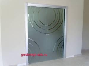 Цельностеклянные двери входные