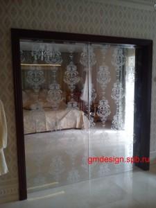 откатные стеклянные двери фото
