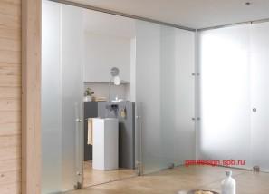 стеклянные раздвижные двери и перегородки